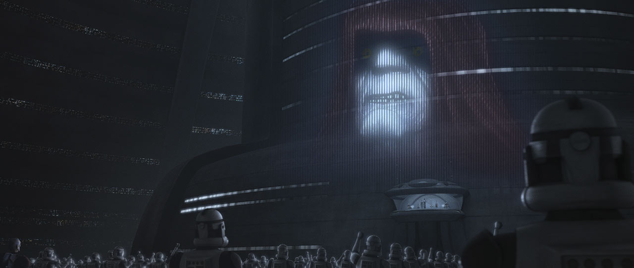 """A Palpatine transmission in Star Wars: The Bad Batch - """"Aftermath"""""""