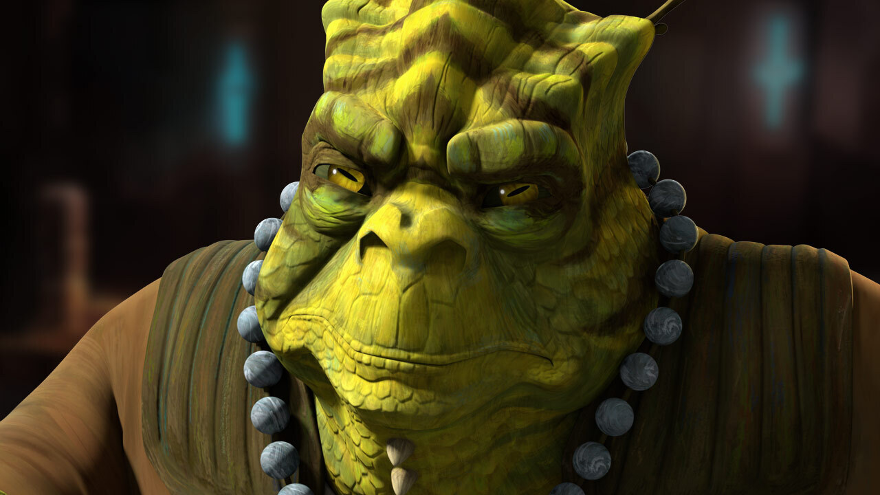 """Cid in the Star Wars: The Bad Batch episode, """"Rampage"""""""