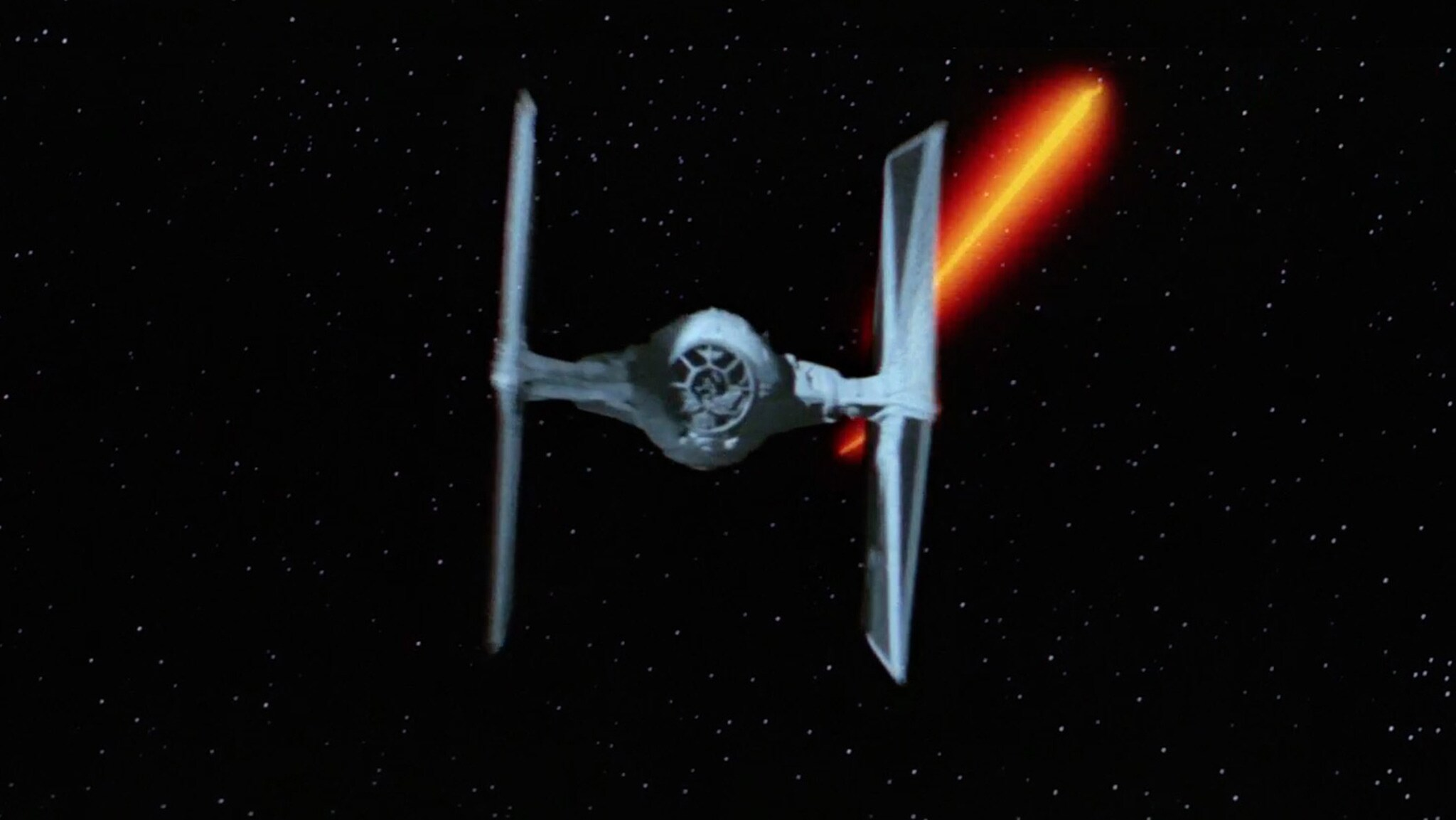 The Imperial TIE fighter from Star Wars: A New Hope.