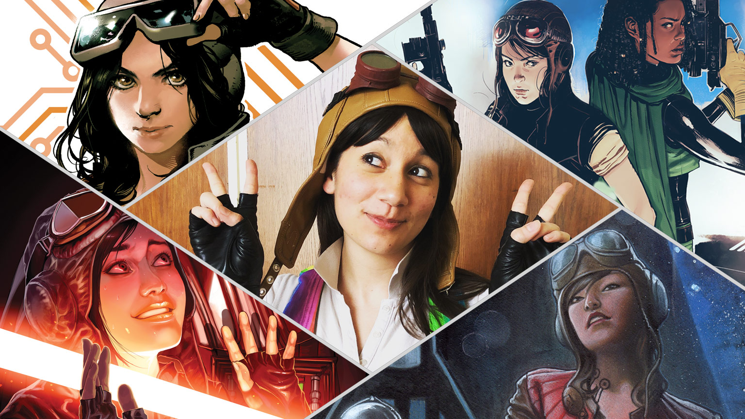 Bria LaVorgna cosplaying as Doctor Aphra