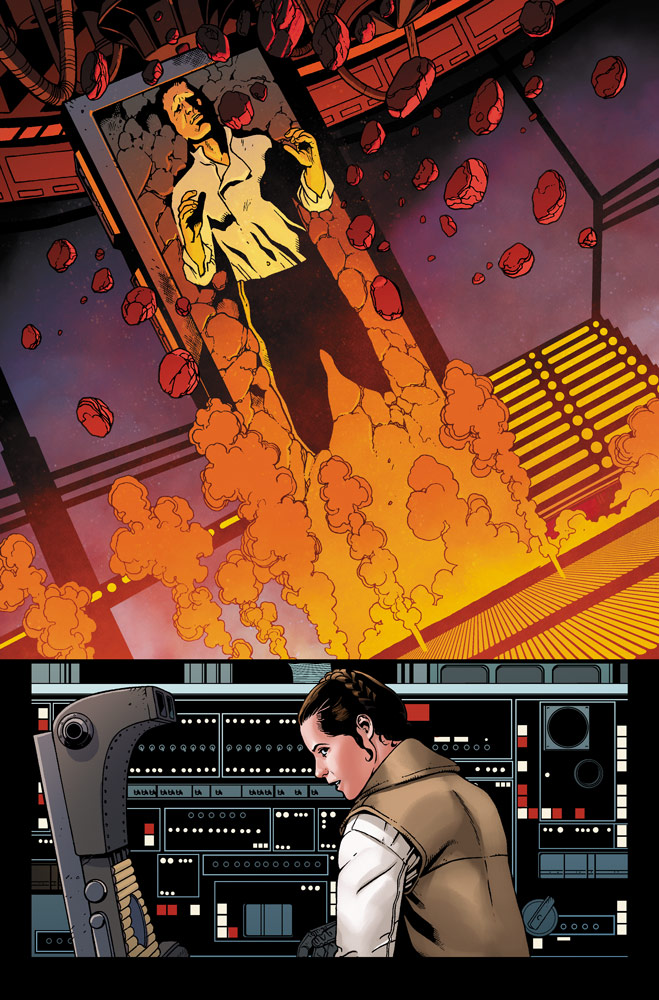 Leia thinks of Han in Marvel's Star Wars #14