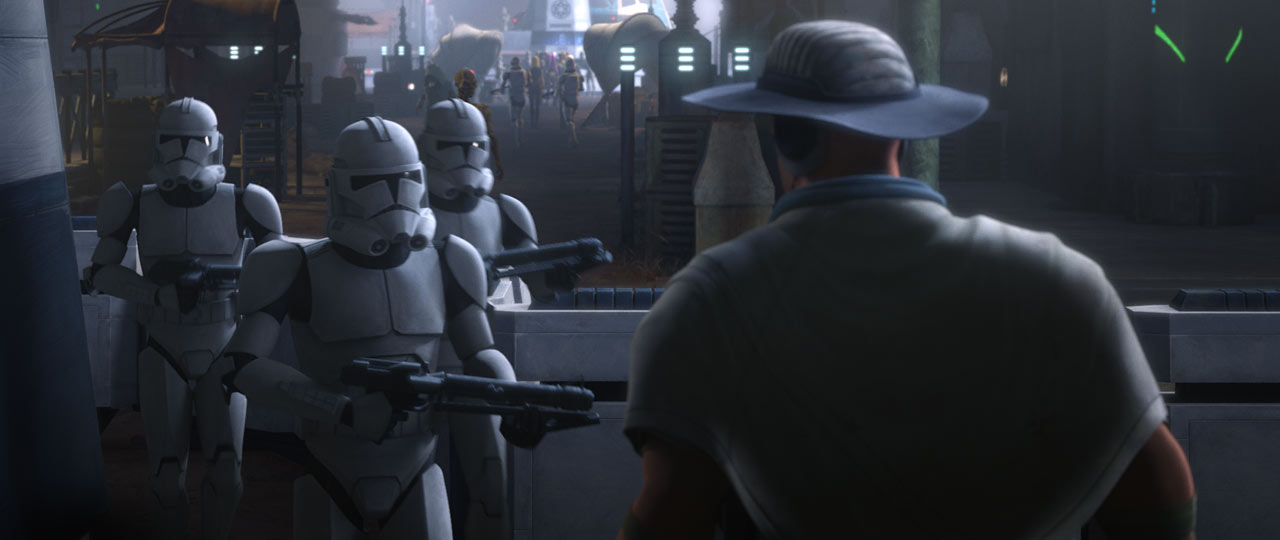 """Stormtroopers in """"Cut and Run"""""""
