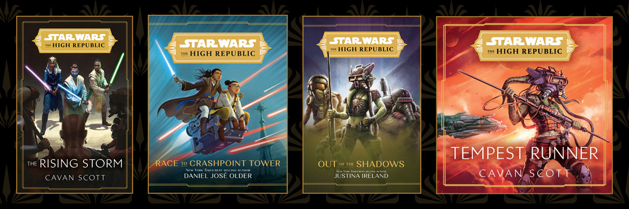 Star Wars: The High Republic: The Rising Storm, Star Wars: The High Republic: Race to Crashpoint, Star Wars: The High Republic:Out of the Shadows, and Tempest Runner