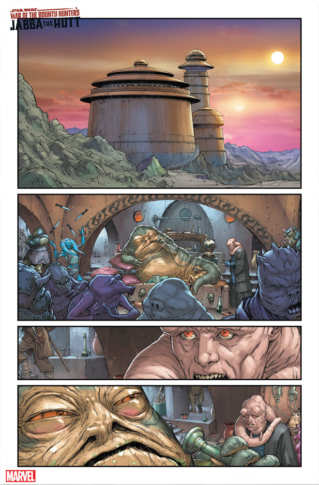 Star Wars: War of the Bounty Hunters: Jabba the Hutt #1 preview