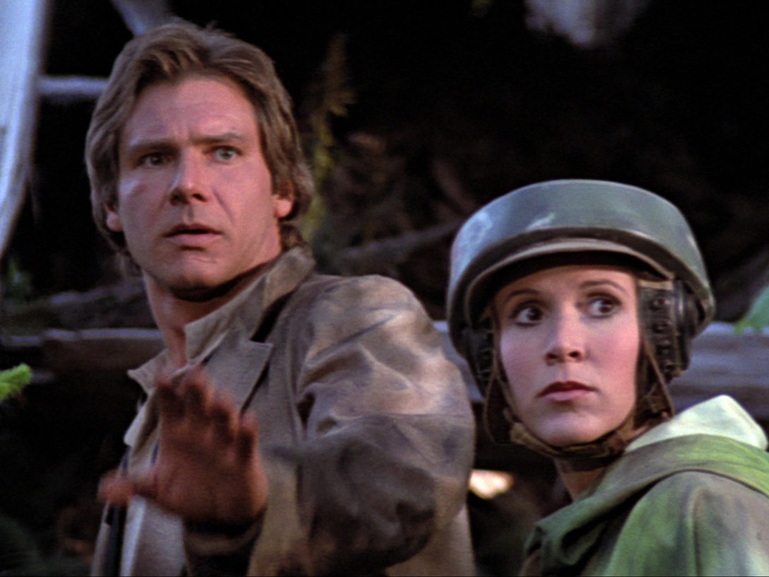 Han and Leia in Return of the Jedi.