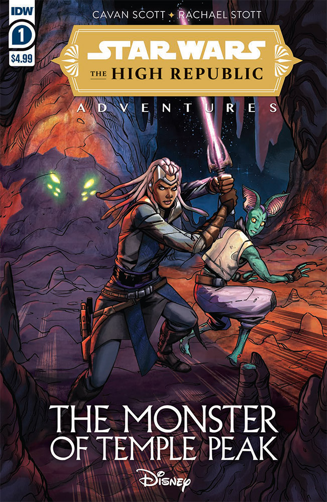 The cover of The Monster of Temple Peak.