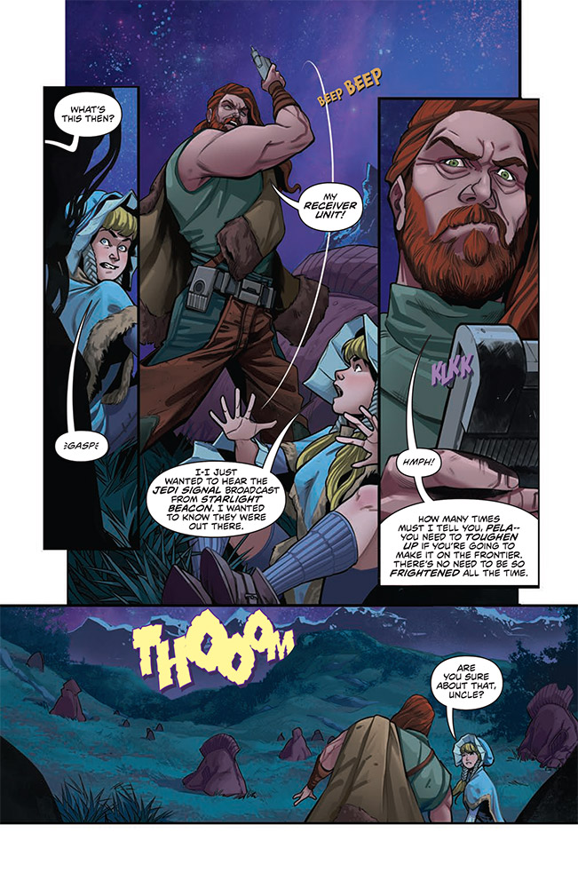 A Page from The Monster of Temple Peak.