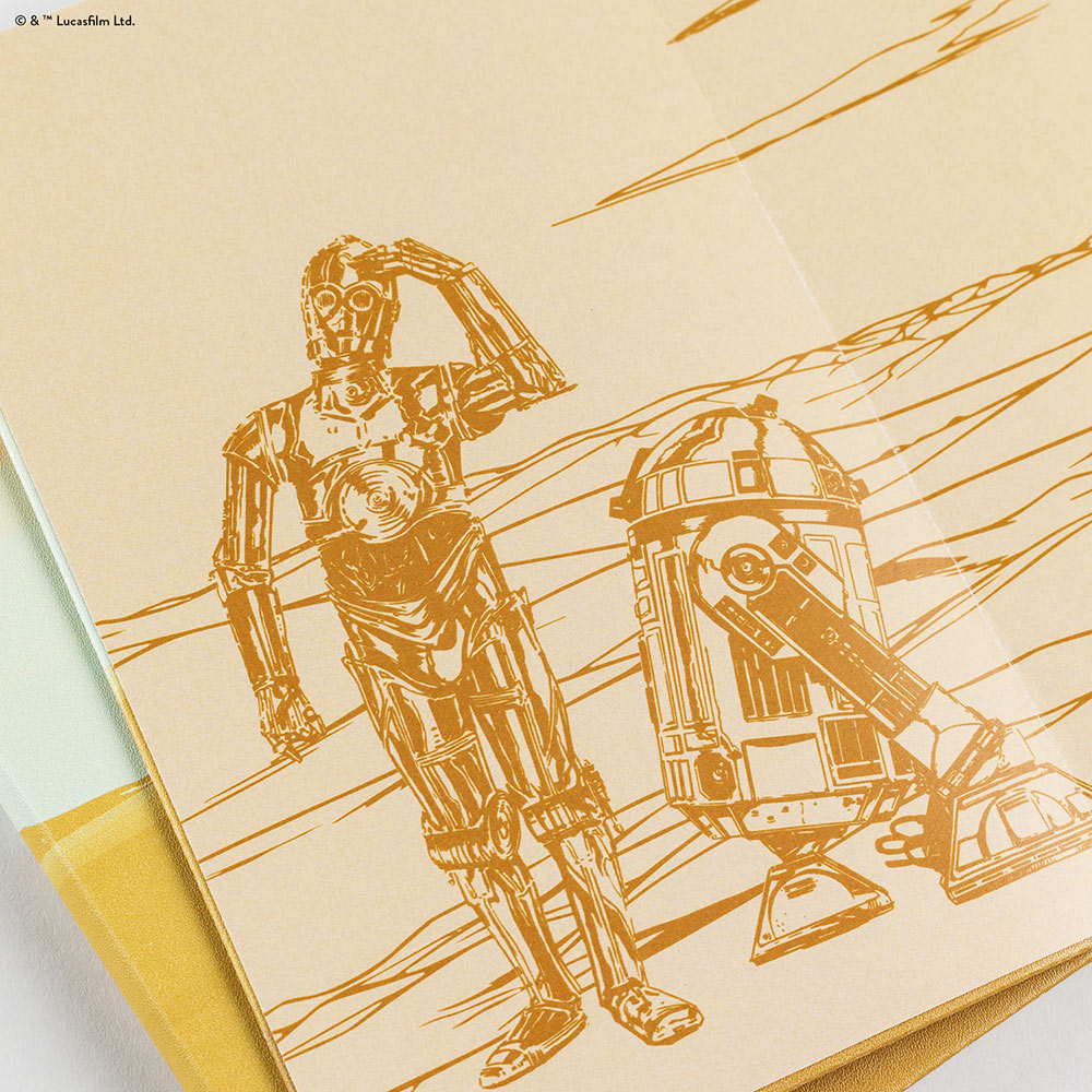 Erin Condren x Star Wars Collection R2-D2 and C-3PO notebook