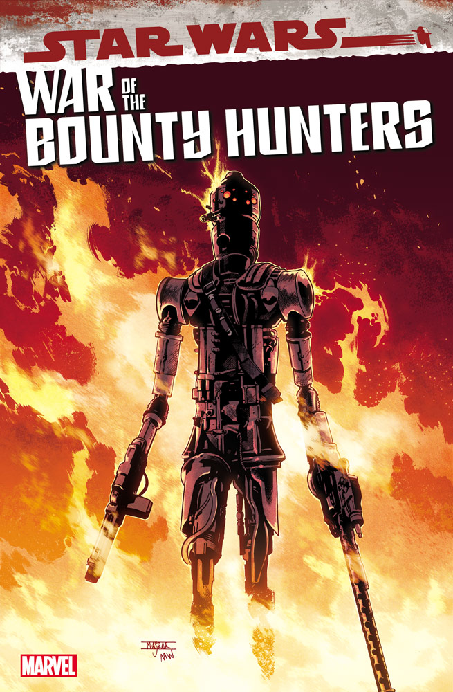 IG-88 on the cover of War of the Bounty Hunters: IG-88 #1