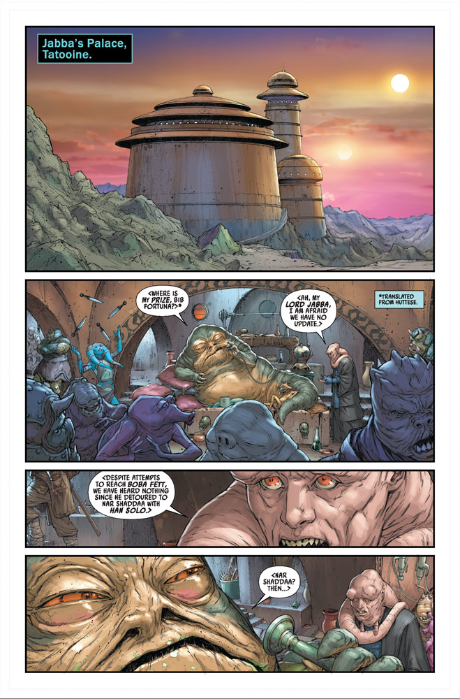 Star Wars: War of the Bounty Hunters: Jabba the Hutt #1 preview page