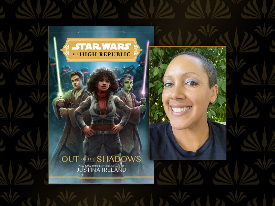 Out of the Shadows cover and Justina Ireland