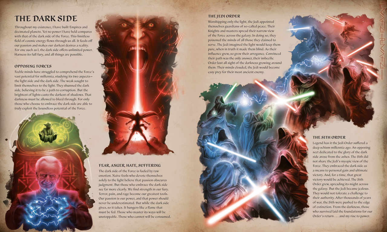 Star Wars: The Secrets of the Sith pages on the dark side