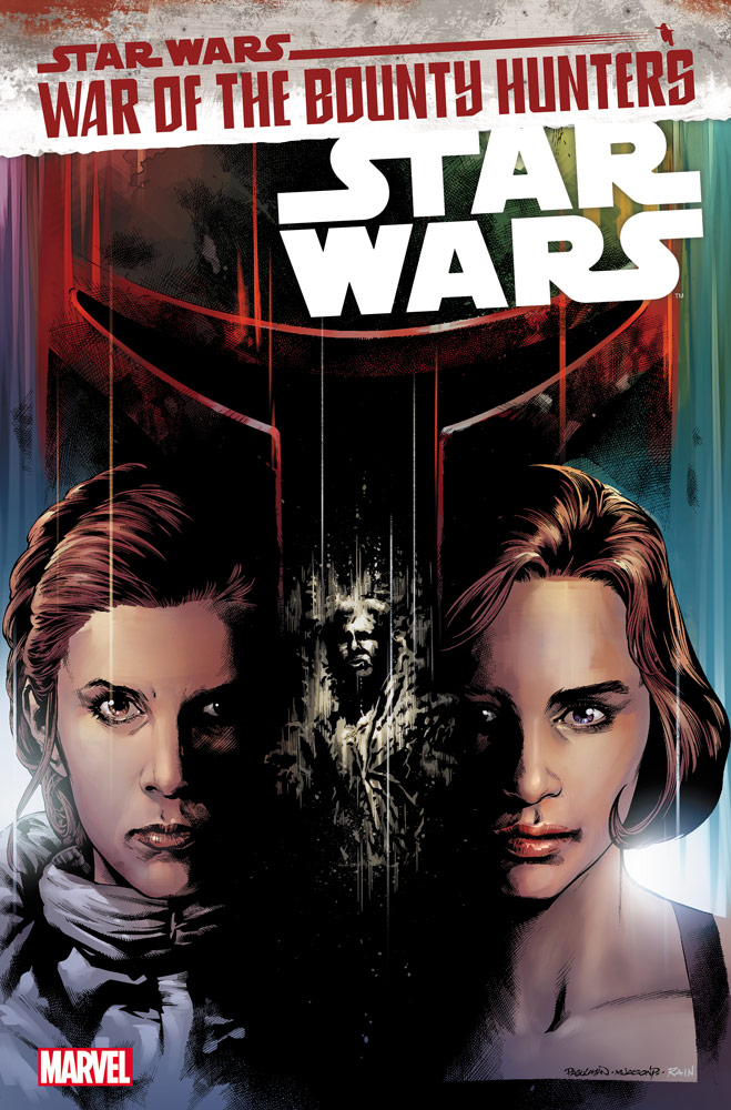Leia and Qi'ra on the cover of Star Wars #18