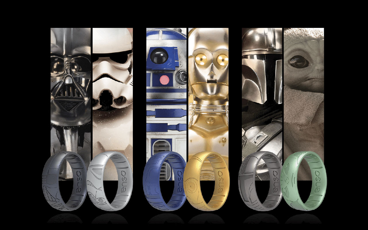 Star Wars x Enso Rings and characters