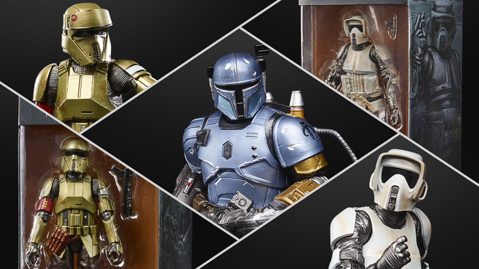 Star Wars: The Black Series Carbonized Collection figures.