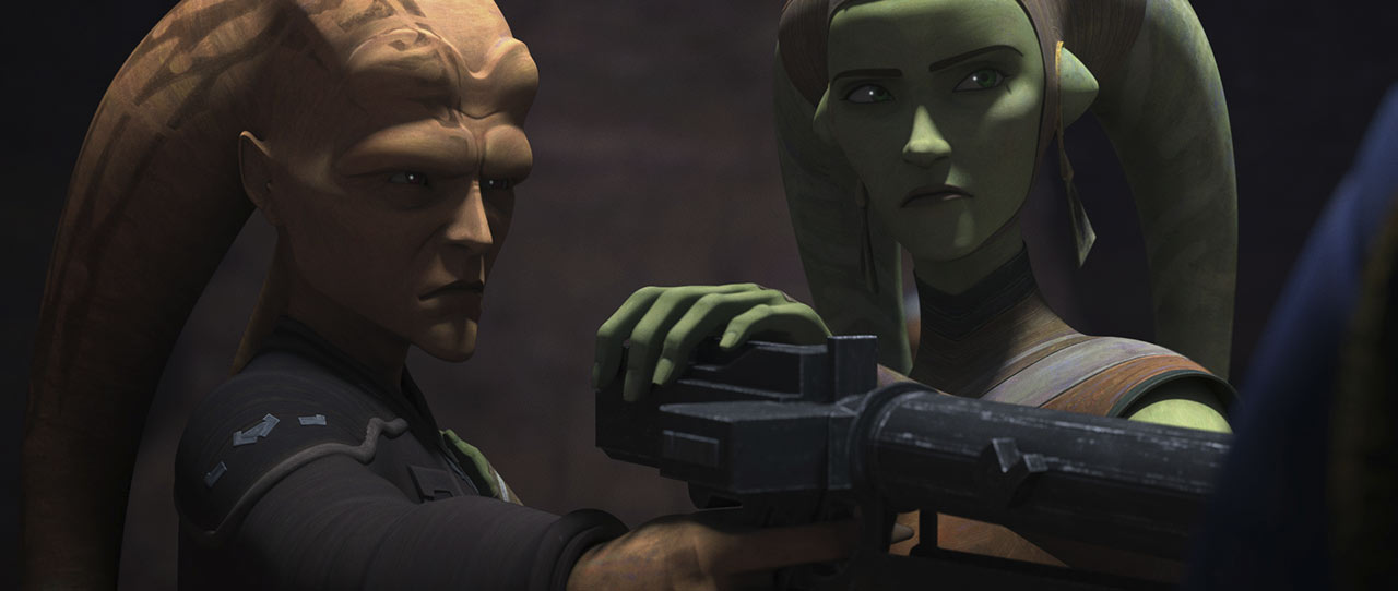 Cham and Eleni Syndulla in Star Wars: The Bad Batch.