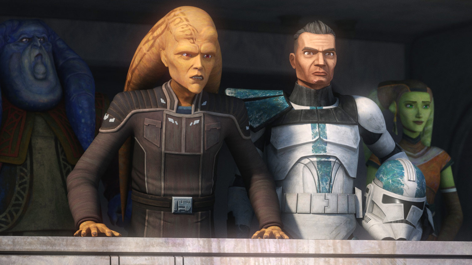Cham Syndulla and others in Star Wars: The Bad Batch.