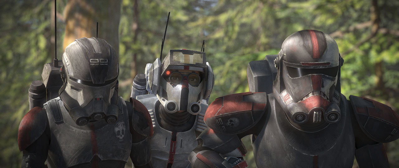 Echo, Tech, and Hunter on-mission.