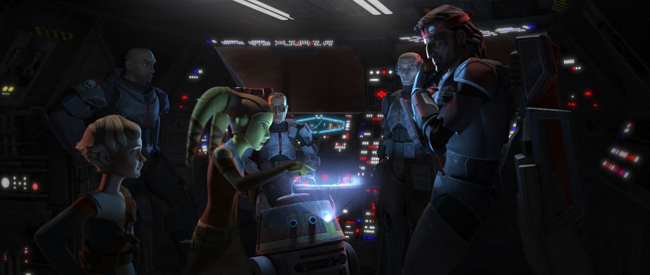 Hera with the Bad Batch in the Marauder