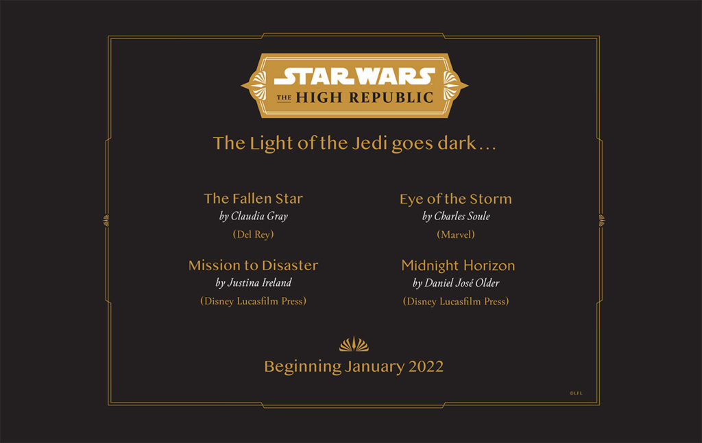 The next wave of books from The High Republic arrive in January 2022.