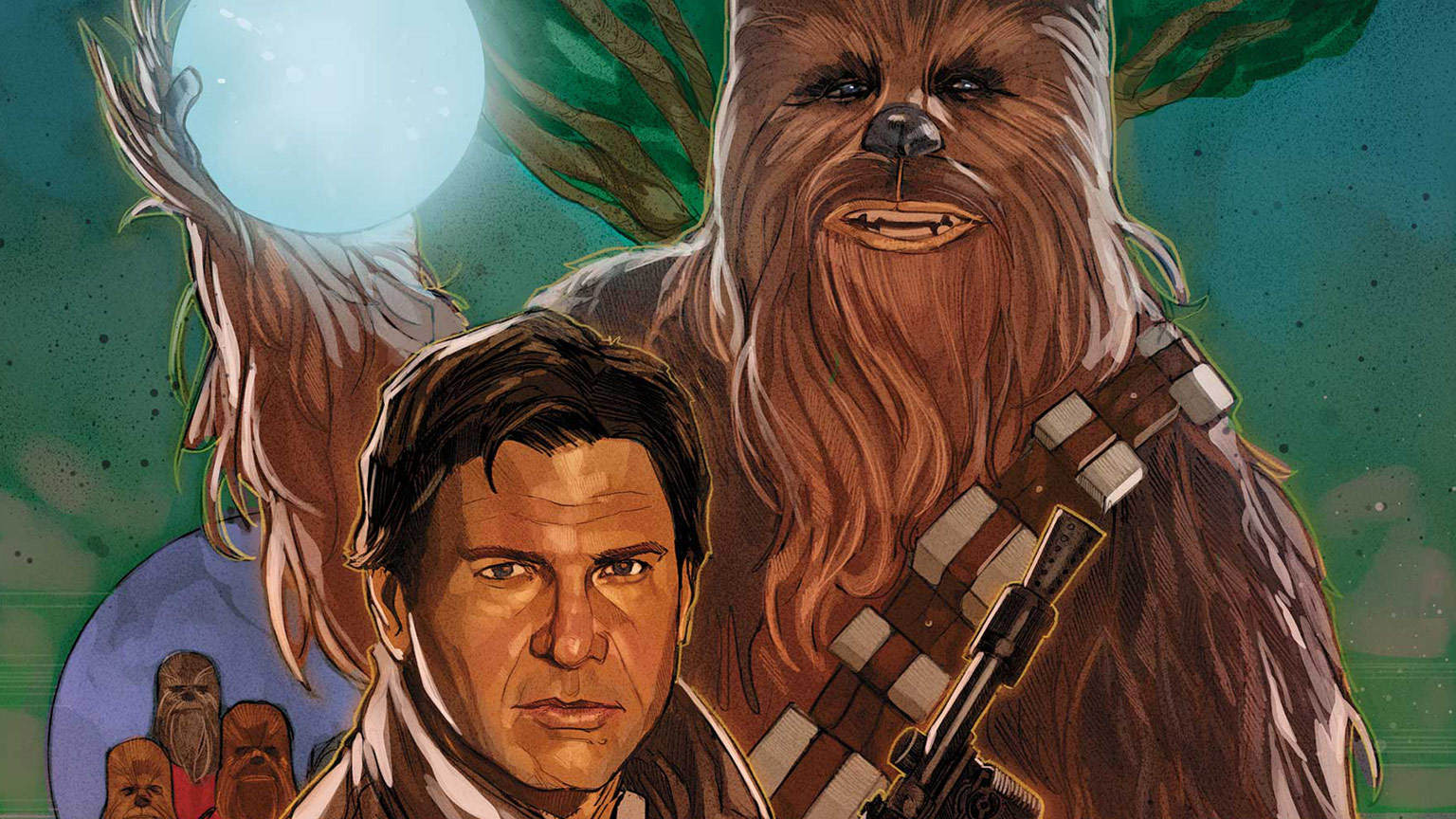 Han Solo and Chewbacca on the cover of Star Wars: Life Day issue #1.