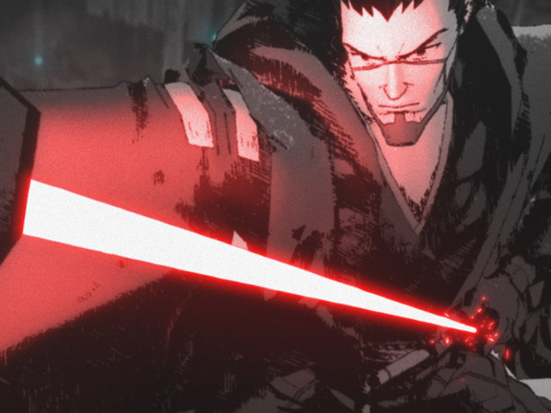 """Ronin (voiced by Masaki Terasoma in Japanese and Brian Tee in the English Dub) in """"The Duel."""""""