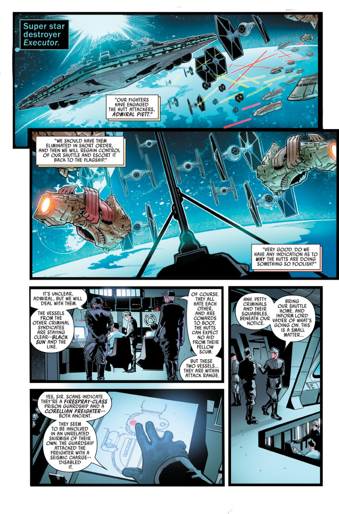 A page from War of the Bounty Hunters #5.