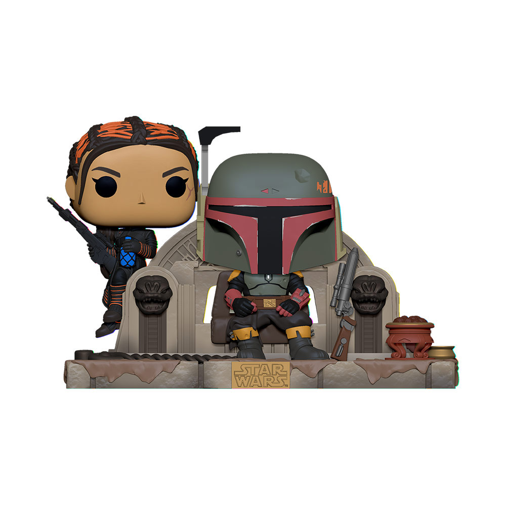 A new Funko Pop! of Boba Fett and Fennec Shand.
