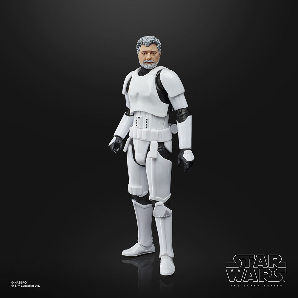 Hasbro's Star Wars: The Black Series George Lucas out of package