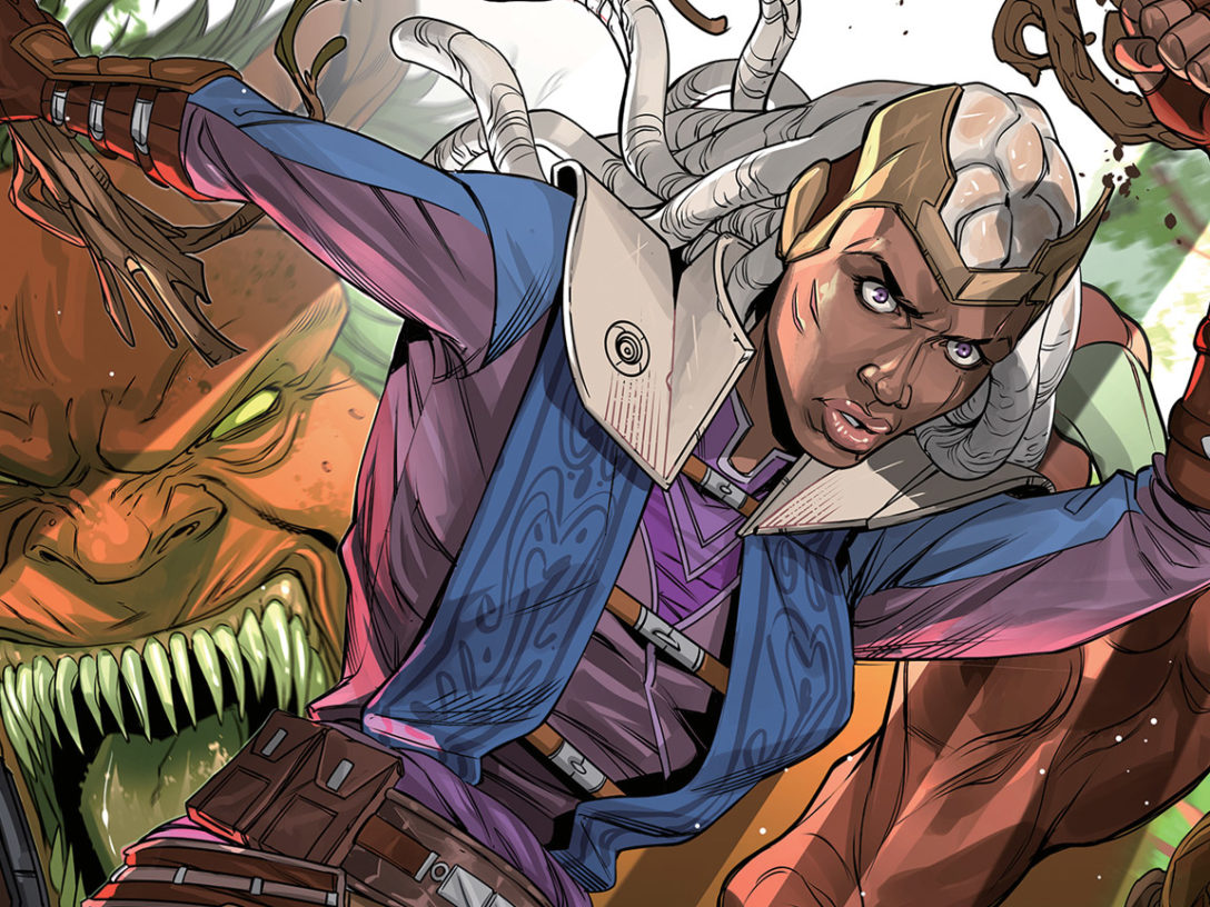 Ty Yorrick on the cover of The Monster of Temple Peak issue #3.
