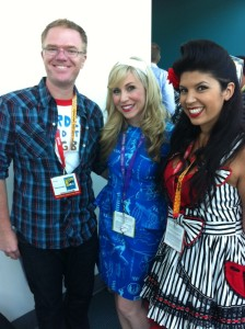 This is me with Ed Labay and Courtney Lear from Hot Topic!
