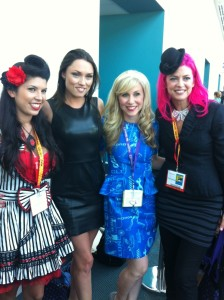 This is me with our panelists Courtney Lear, Clare Grant and Tarina Tarantino!