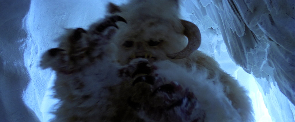 The wampa attacks Luke in The Empire Strikes Back