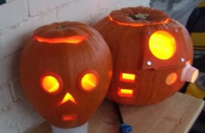Pumpkins by 501st and R2 Builders member Cam McCrackin and son