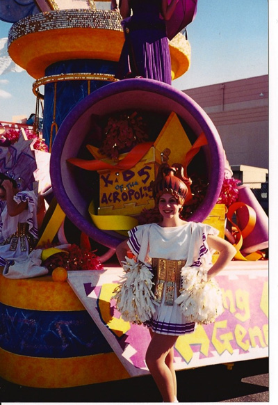 Here I am in the Hercules Parade at Disney's Hollywood Studios when I was in high school