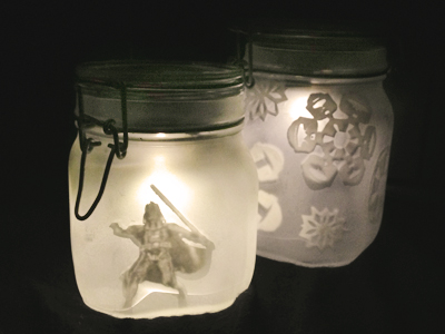 DIY SW Sun Jars Glowing