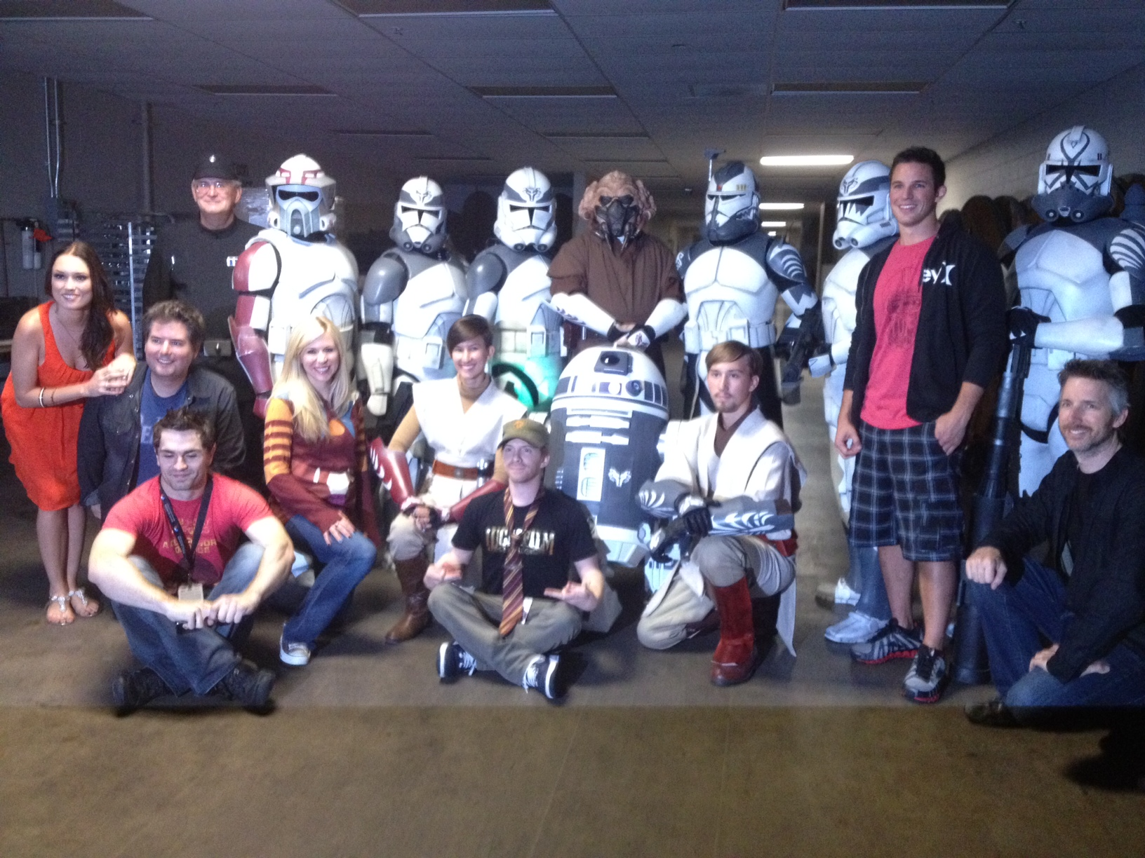 Backstage after Smuggler's Gambit, we ran into the Wolfpack. It was an amazing moment at the most unlikely of locations!