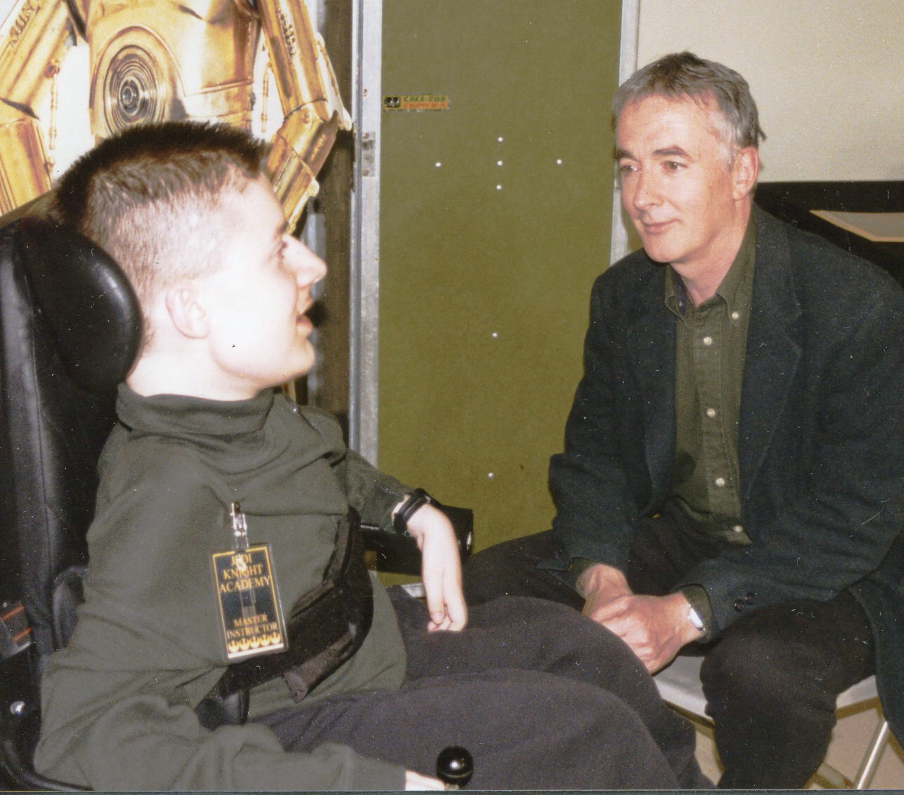 Ben with Anthony Daniels (C3PO), 1997 Hackensack Star Wars Convention.