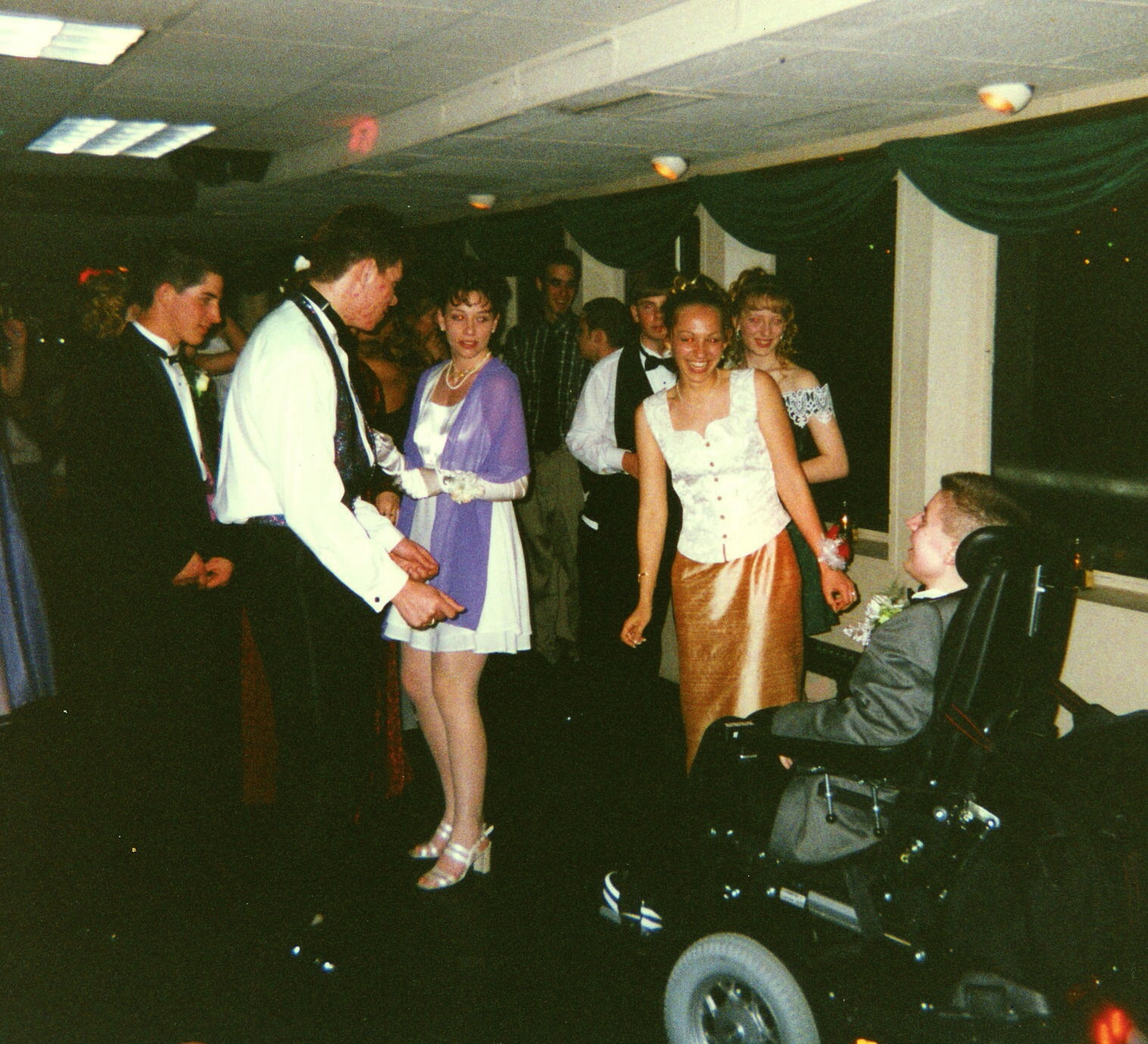 Ben on the dance floor with Angela, prom night, 1996.