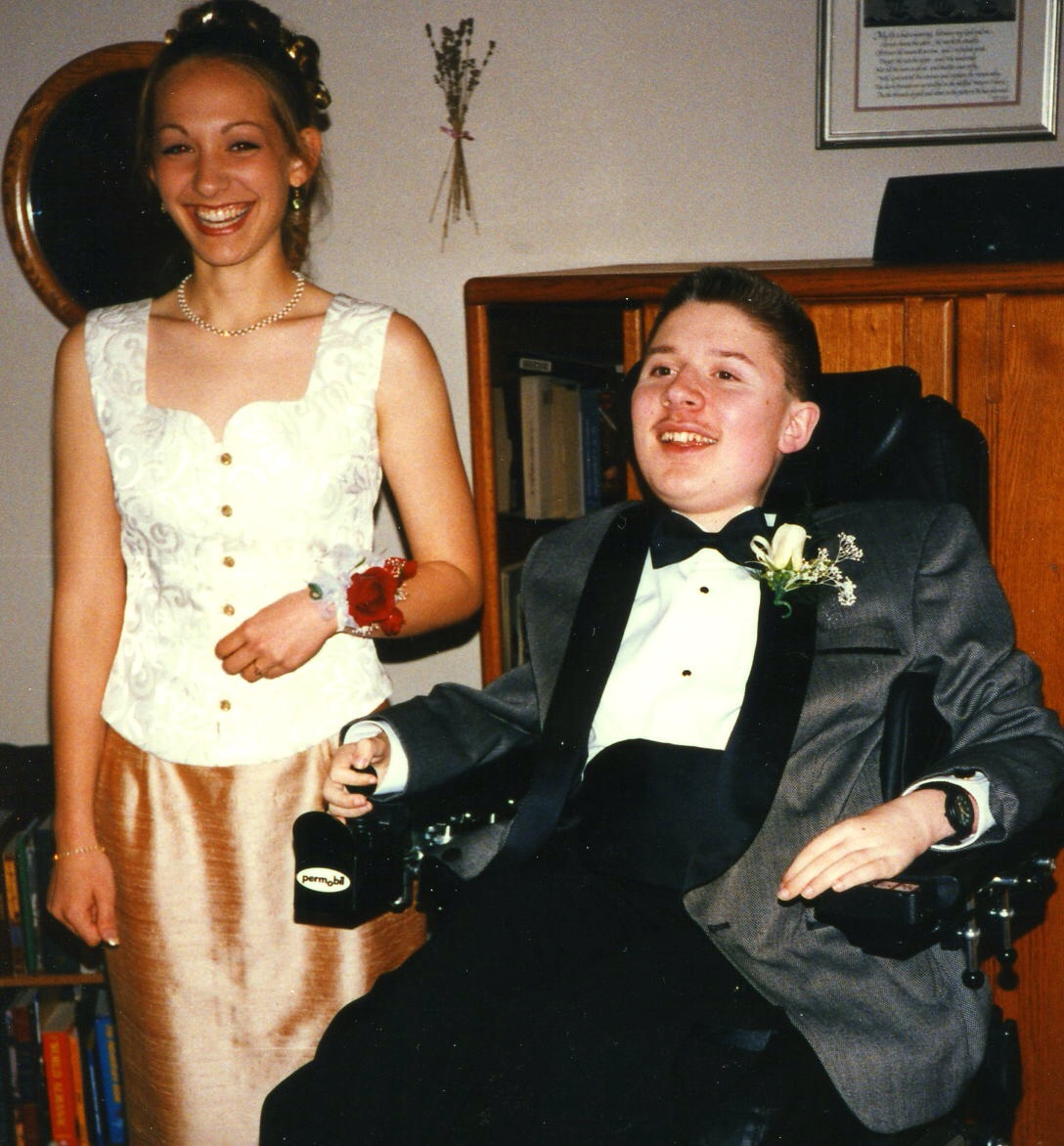 Ben and Angela, prom night, 1996.