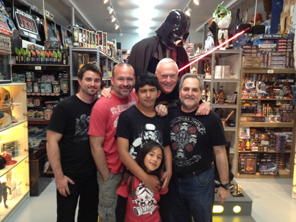 Bryan, Jay, Daniel, Selena, Bob and Steve at Rancho Obi-Wan