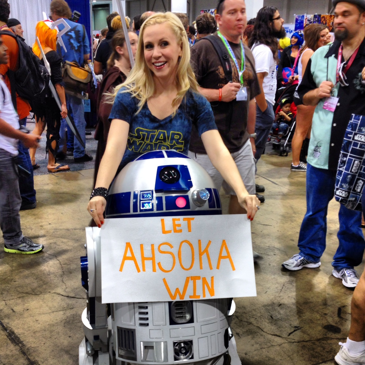R2-D2 says to Let Ahsoka Win!