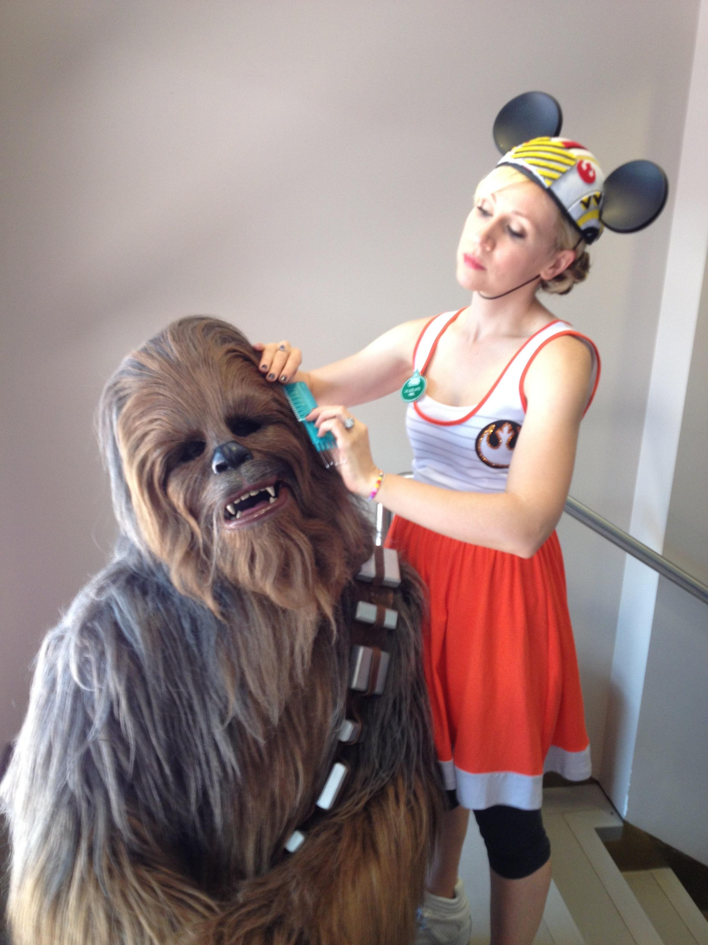Chewie was there for me during SWW to lend an ear...he gives great advice!