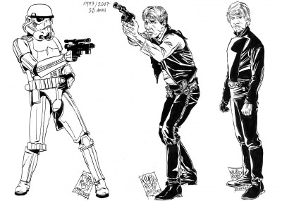 "Rossi's ""realistic"" take on <em><i>Star Wars</i></em> classic trilogy icons."