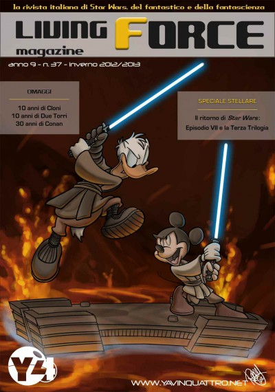 Issue #37 of Yavin 4's award-winning Italian fanzine <em>Living Force Magazine</em> (Winter 2012/2013).