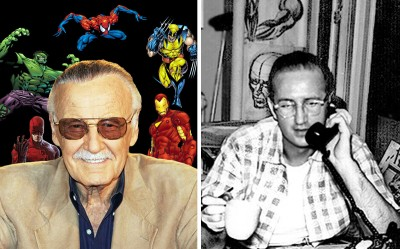 "Stan ""The Man"" Lee (left) and Steve Ditko"