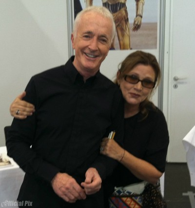 Anthony Daniels and Carrie Fisher at Star Wars Celebration Europe