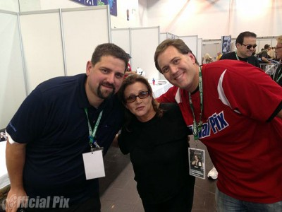 Carrie Fisher and fans at Star Wars: Celebration Europe