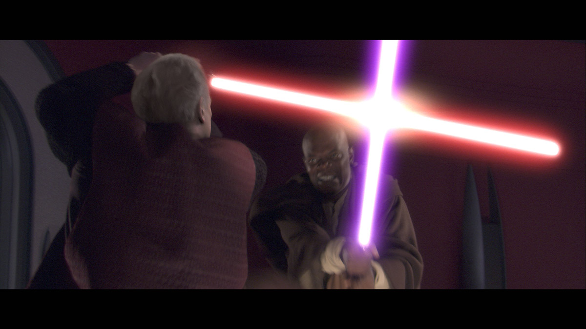 Image result for mace windu palpatine duel