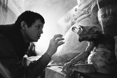 "Richard Marquand ""talks"" to Salacious Crumb (presumably the hidden puppeteer could hear)."